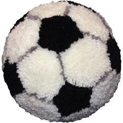 "Huggables Soccer Ball Pillow Latch Hook Kit-10"" Round"
