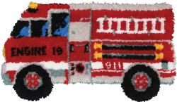 "Latch Hook Kit 32""X17""-Fire Truck"