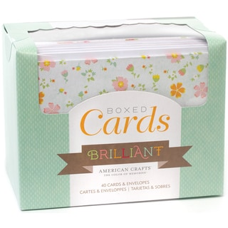 """Box Of Patterned Cards With Envelopes 4""""X6"""" 40/Pkg-Brilliant"""