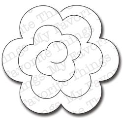 Die-Namics Die-Large Rolled Rose