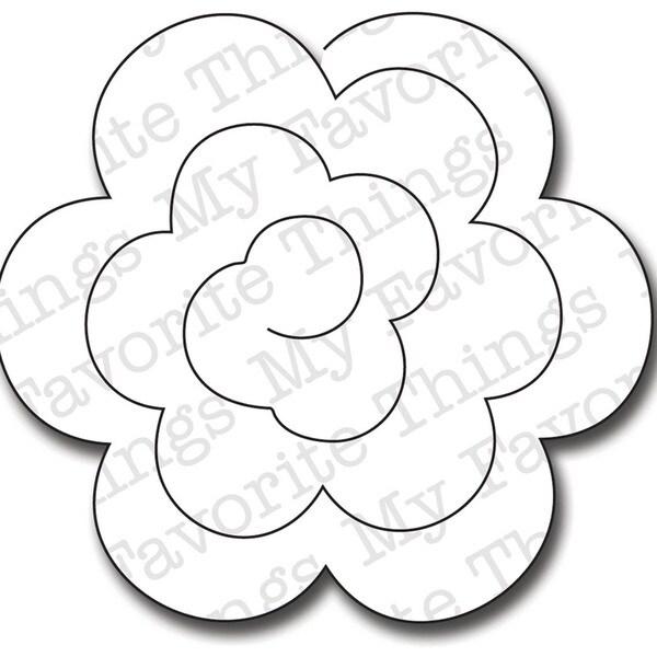 Die-Namics Die-Large Rolled Rose
