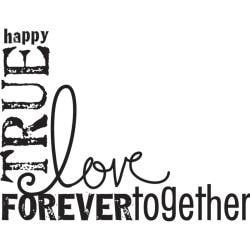 Mounted Rubber Stamp 2.5X3.25-Love Words