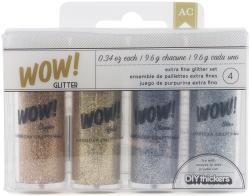 Wow! Extra Fine Glitter 4pk-Everyday 1