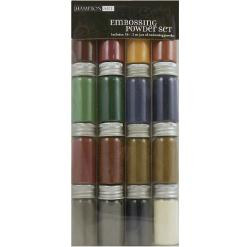 Hampton Art Embossing Powder 16 .2-ounce Jars - (Metal/Pearl Variety)