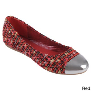 Journee Collection Women's 'Diego' Multi-color Cap Toe Ballet Flats