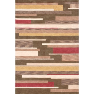 Hand-tufted Ackworth Olive/ Gold Rug (7'10 x 7'11)