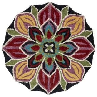 Hand-tufted Lucinda Multi Wool Rug (3' x 3')