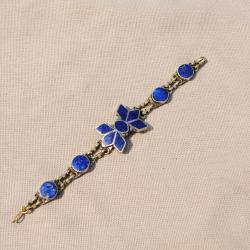 Hand-made Star Shaped Lapis Lazuli Chain Bracelet (Afghanistan)