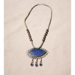 Handcrafted Tribal Lapis Lazuli Necklace with 58mm Stone (Afghanistan)