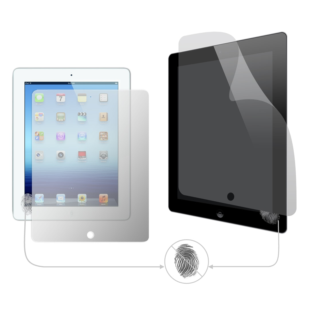 Military Grade Anti-Fingerprint Screen Protector for the New Apple iPad 3 (Pack of 2)