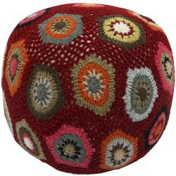 nuLOOM Handmade Casual Living Sweater Pouf