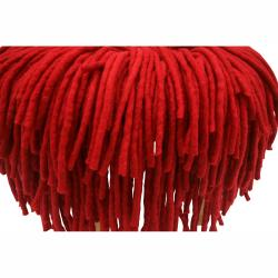 nuLOOM Handmade Casual Living Red Shag Pouf