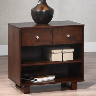 George Tobacco Finish 2-drawer Nightstand