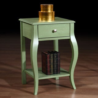 Alexandra Green Distressed One-drawer Nightstand