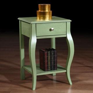 Alexandra Green Distressed One-drawer Nightstand