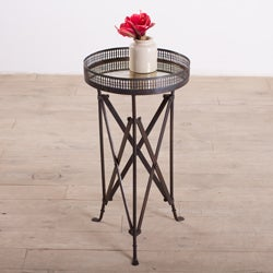 Burnt Wax Accordian Side Table (India)