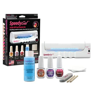 SpeedyGel Soak Off Gel Polish Kit with LED Lamp