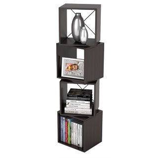 DarLiving Rotating Storage Espresso Display Cube