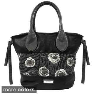 Nicole Lee Genuine Leather Romance Tote Handbag