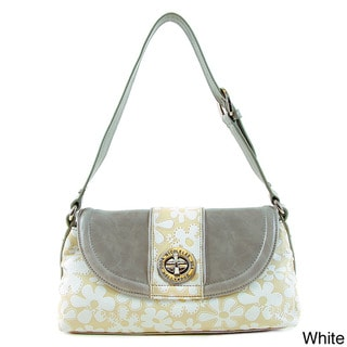 Nicole Lee Belinda Flower Embossed Shoulder Bag