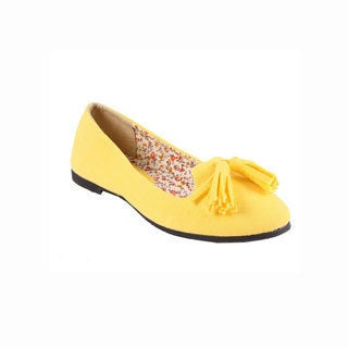 Refresh by Beston Women's 'BLOSSOM' Fabric Smoking Flats