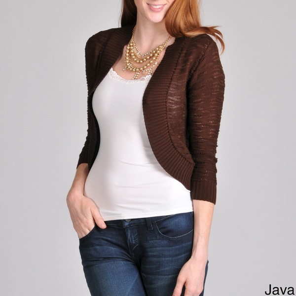 Sunny Leigh Women's Loose Knit Shrug