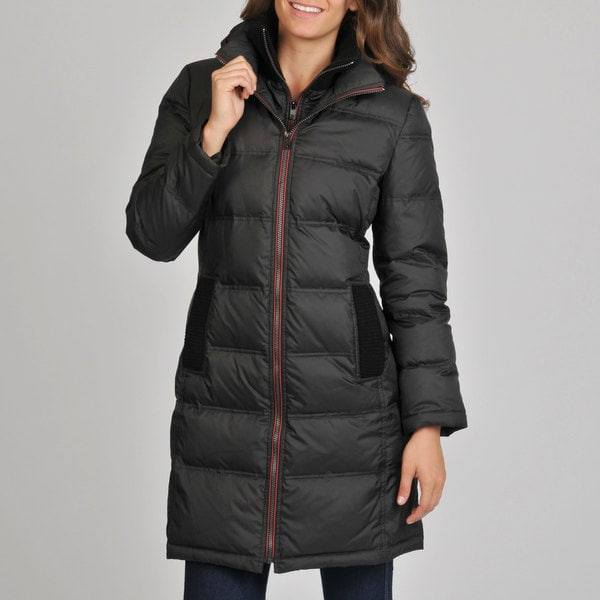 London Fog Women's Black Quilted Down Coat