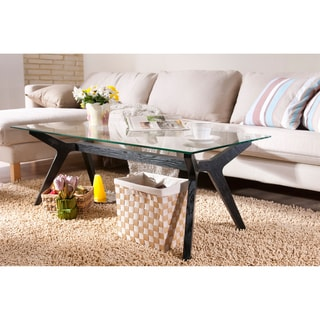 Furniture of America Curtsy Kelly Glass Coffee Table
