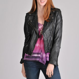 Buffalo Women's Asymmetrical Zip Leather Jacket