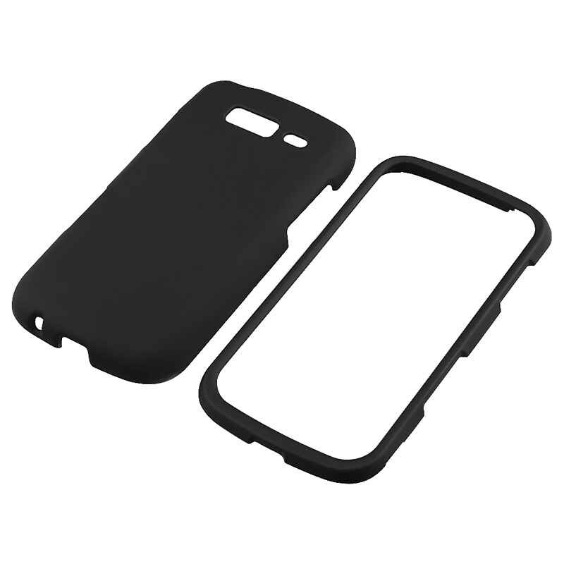 INSTEN Black Snap-on Rubber Coated Phone Case Cover for Samsung Galaxy S Blaze 4G T769