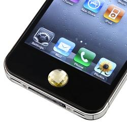 Amber Diamond Home Button Sticker for Apple iPhone/ iPad/ iPod