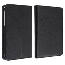 Black Leather Protective Swivel Case/Stand for Google Nexus 7