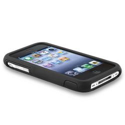 Black/ Black Cup Shape Case/ Screen Protector for Apple iPhone 3G/ 3GS