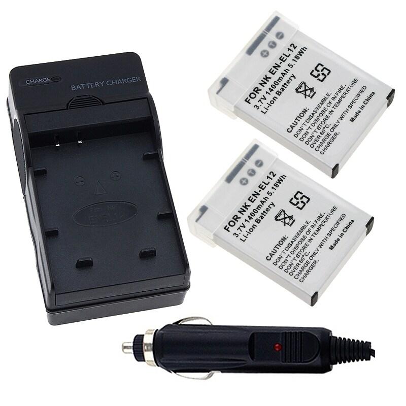 INSTEN Battery/ Battery Charger Set for Nikon EN-EL12/ CoolPix S1000pj