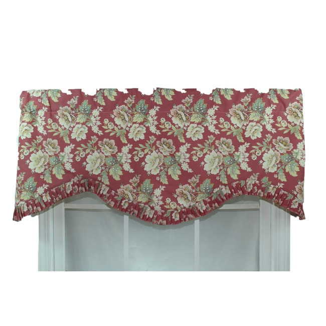 RLF Home Jazmine Red Ruffled Window Valance at Sears.com