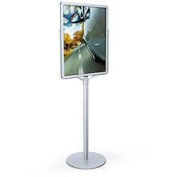 Testrite Silver Single Pole Round Base Poster Signholder (22 x 28)