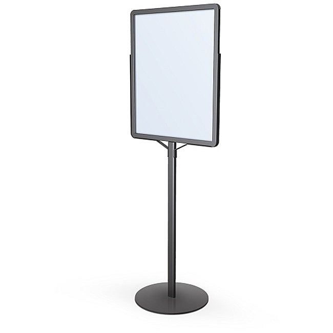 Testrite Black Single Pole Round Base Poster Signholder ( (22 x 28)