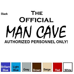 'The Official Man Cave' Vinyl Wall Art Decal