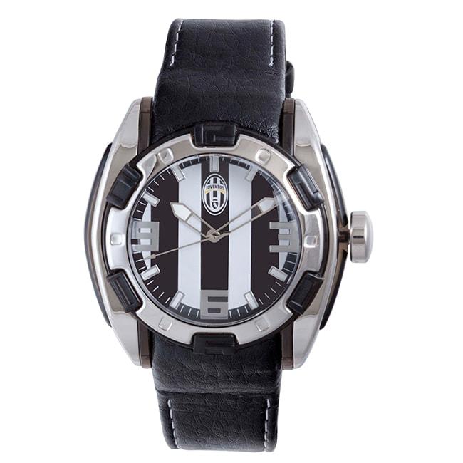 Juventus Men's Black and White Dial Watch