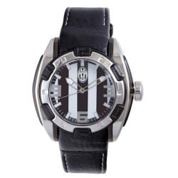 Juventus Men's Black and White Dial Watch