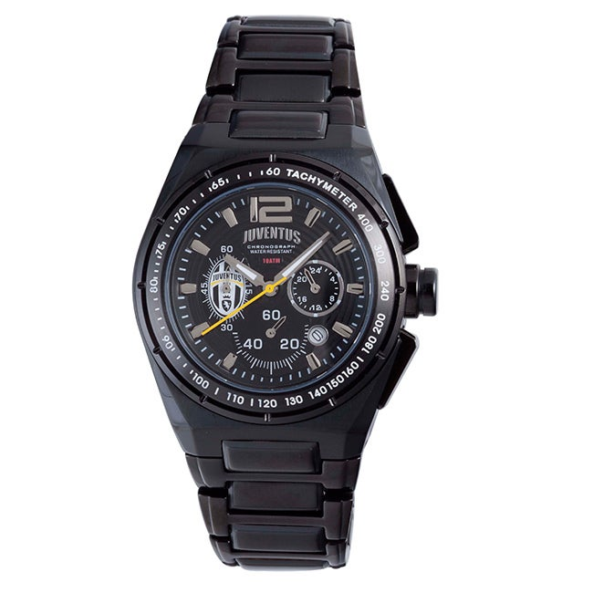 Juventus Men's Black PVD Coated Stainless Steel Watch