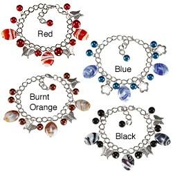La Preciosa Silvertone Bead Charm Bracelet