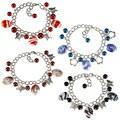La Preciosa Silvertone Bead Charm Pandora-style Bracelet