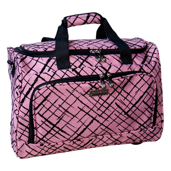 Jenni Chan Brush Strokes Red City Duffel