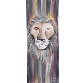 Lion Face Canvas Painting (Malawi)