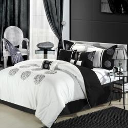 Willow Black and White 8-piece Comforter Set