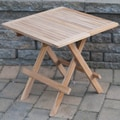 Solid Teak 19-inch Rectangular Outdoor Folding Table