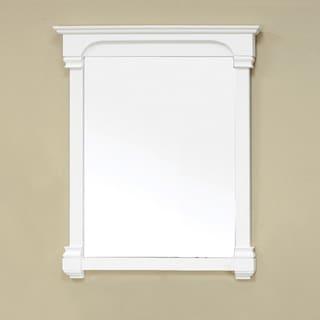 Olivia 36-inch Cream White Wood Mirror