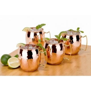 Old Dutch Hammered Copper 16-ounce Moscow Mule Mugs (Set of 4)
