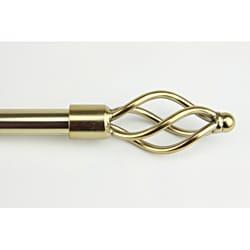 Gold Wave Adjustable Curtain Rod Set